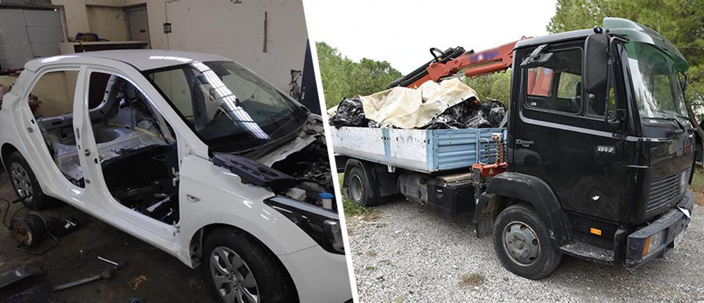 Εξάρθρωση σπείρας που έκλεβε και διέλυε αυτοκίνητα (εικόνες)