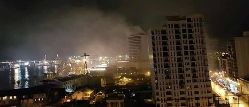 Πύρινη κόλαση σε ξενοδοχείο στην Γεωργία