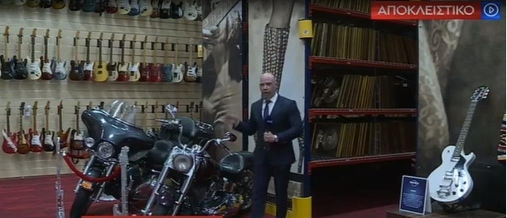 O ΑΝΤ1 στα… άδυτα των θησαυρών της Hard Rock (βίντεο)
