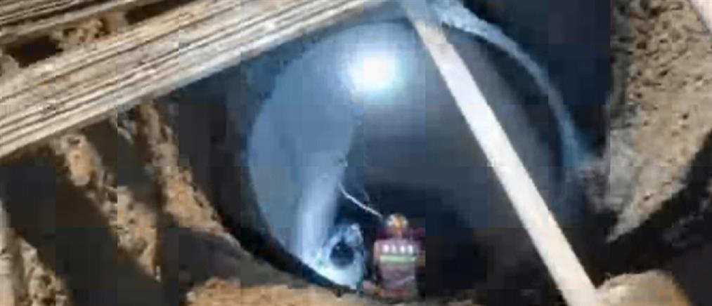 Διάσωση άνδρα από πηγάδι βάθους 10 μέτρων (βίντεο)