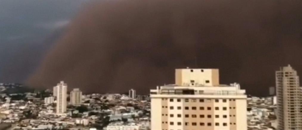 Σύννεφο κόκκινης σκόνης κάλυψε το Σάο Πάολο (βίντεο)