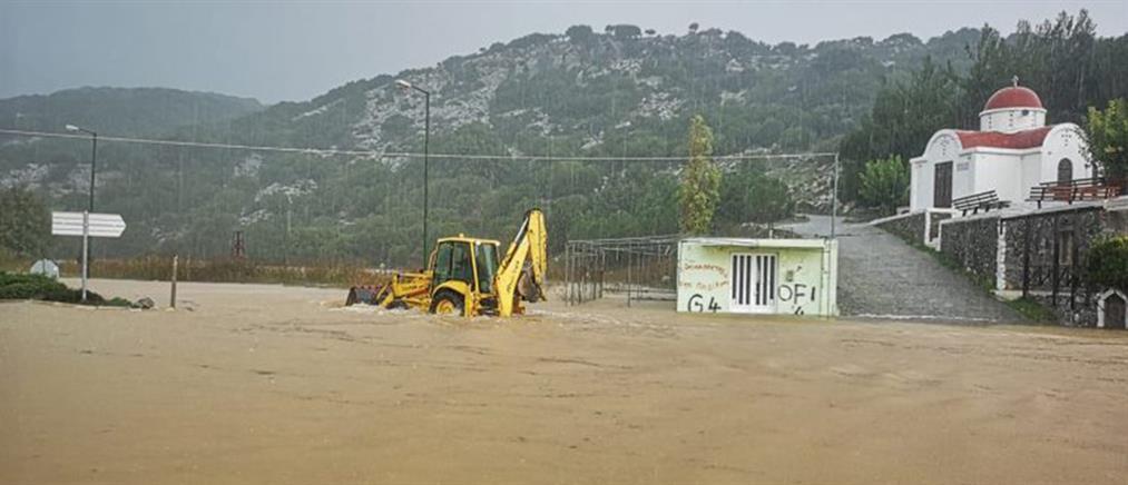 Πλημμύρισε το Οροπέδιο Λασιθίου (εικόνες)