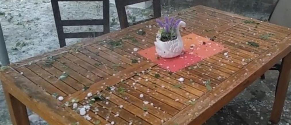 Εικόνες χάους από την κακοκαιρία στην Σκόπελο (βίντεο)
