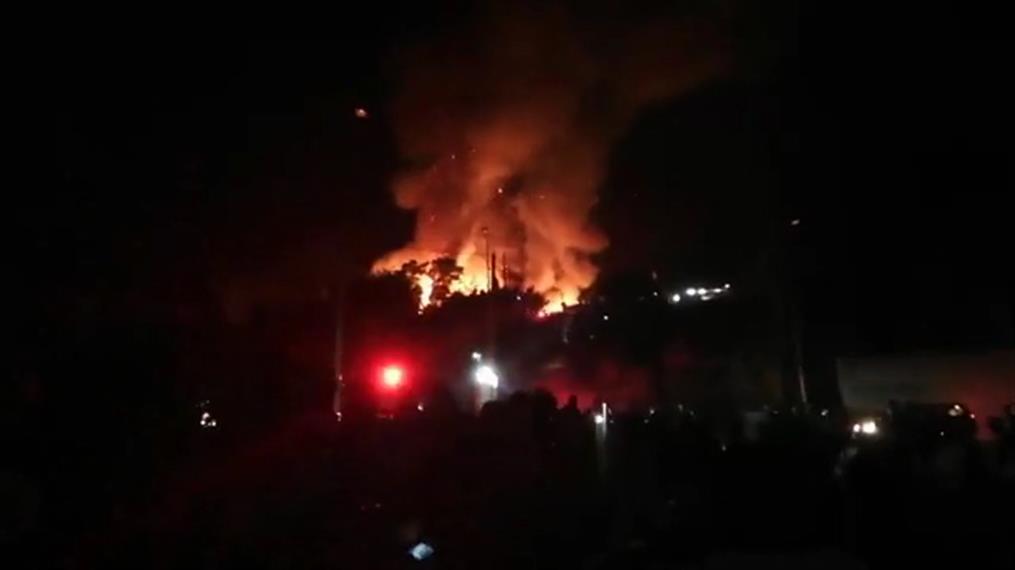 Φωτιά στο Κέντρο Υποδοχής και Ταυτοποίησης στη Σάμο