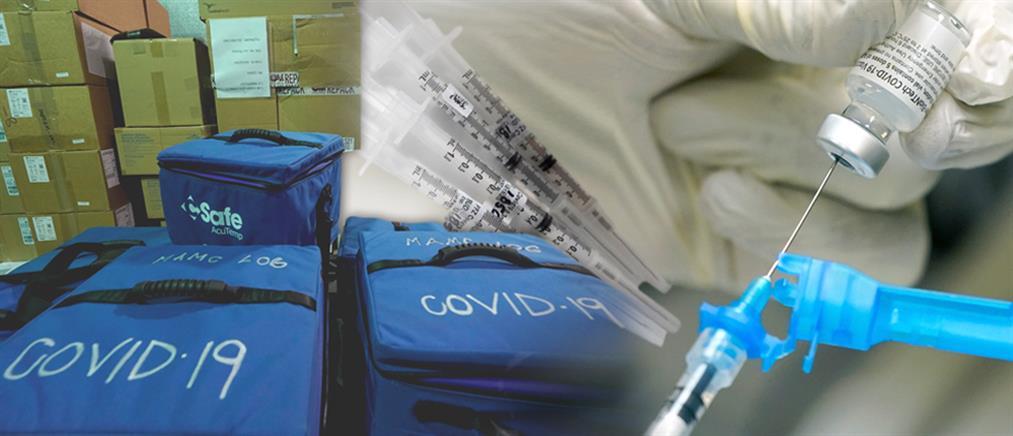 Εμβολιασμός: Στην Αθήνα με ειδική πτήση 83850 δόσεις