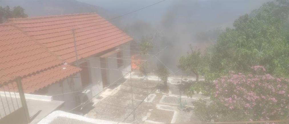 Κεφαλονιά: Μέσα στο Καπανδρίτι η φωτιά (εικόνες)