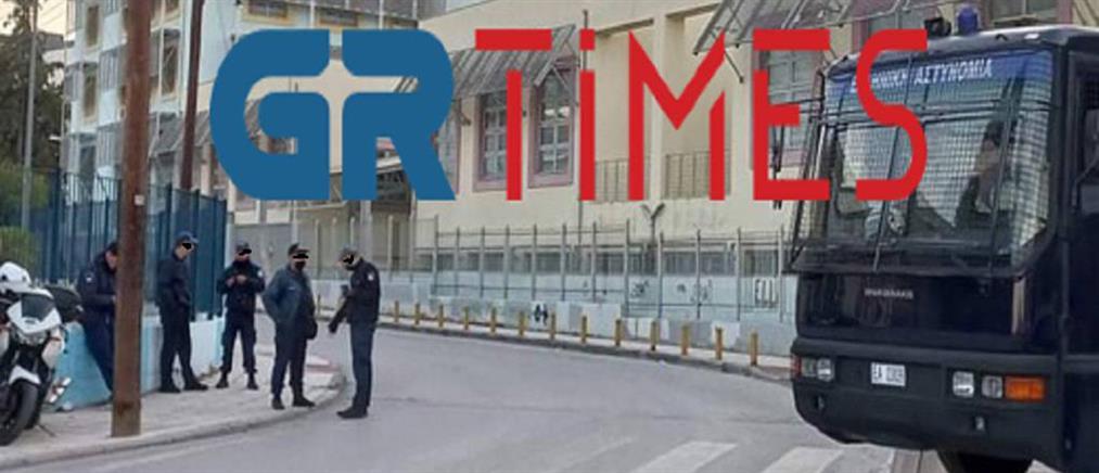 ΕΠΑΛ Σταυρούπολης: Περικυκλωμένο με ΜΑΤ το σχολείο (εικόνες)