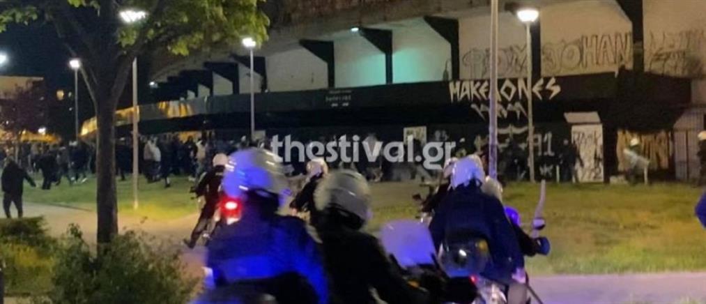 ΠΑΟΚ: ένταση με οπαδούς και αστυνομικούς στην Τούμπα (εικόνες)