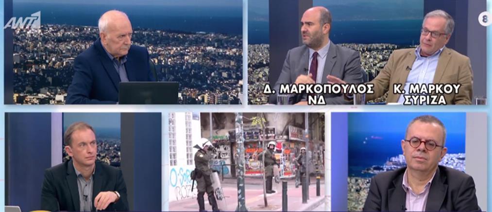 Μαρκόπουλος – Μάρκου στον ΑΝΤ1 για τα επεισόδια στην ΑΣΟΕΕ (βίντεο)