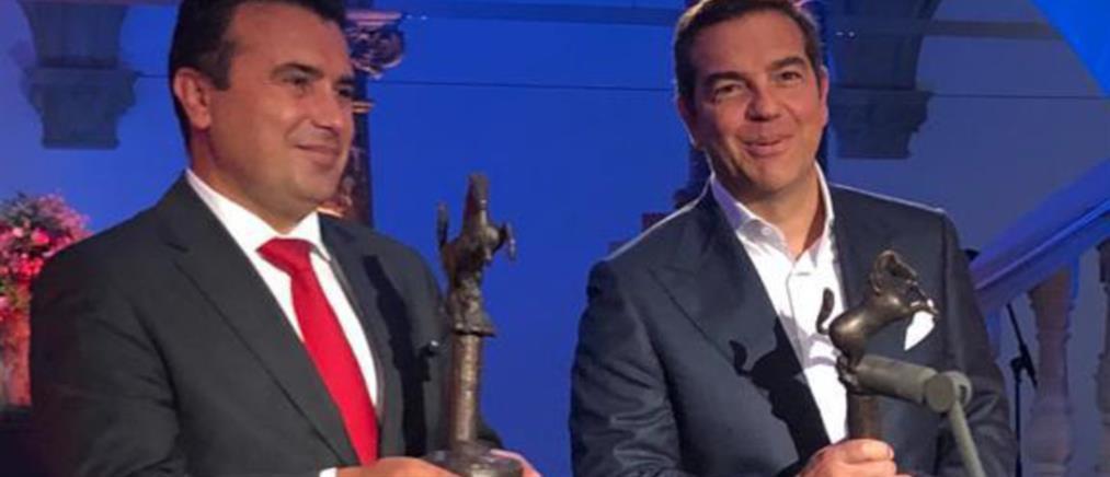 """Τσίπρας – Ζάεφ: Βραβείο Βεστφαλίας για τη """"Συμφωνία των Πρεσπών"""""""