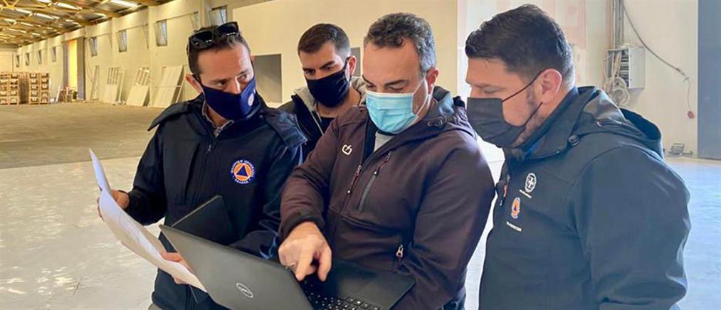 Κορονοϊός: Επίσκεψη Χαρδαλιά στις εγκαταστάσεις της ΓΓΠΠ στον Αυλώνα (εικόνες)