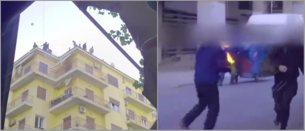 """Βίντεο των αναρχικών από την επίθεση στα ΜΑΤ για την κατάληψη """"Βανκούβερ"""""""