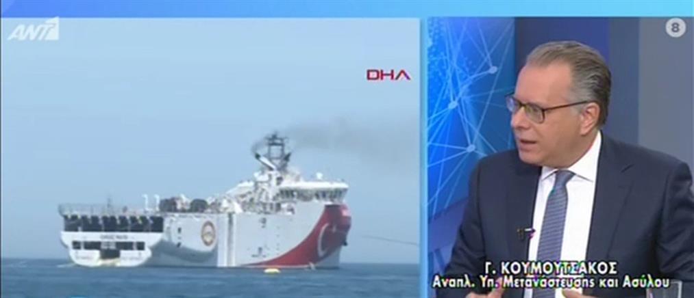 """Κουμουτσάκος στον ΑΝΤ1: ο Ερντογάν θέλει διάλογο """"κομμένο και ραμμένο"""" στα μέτρα του (βίντεο)"""
