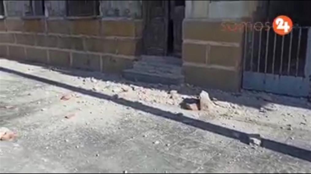 Ζημιές από τον ισχυρό σεισμό στη Σάμο