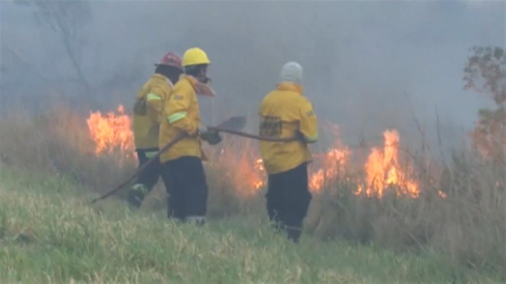 Πυρκαγιά καίει πολύ μεγάλες εκτάσεις στη Βολιβία
