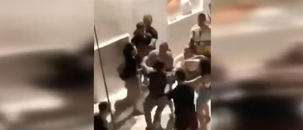 Ένα γκράφιτι προκάλεσε τον άγριο καβγά στην Αντίπαρο (βίντεο)
