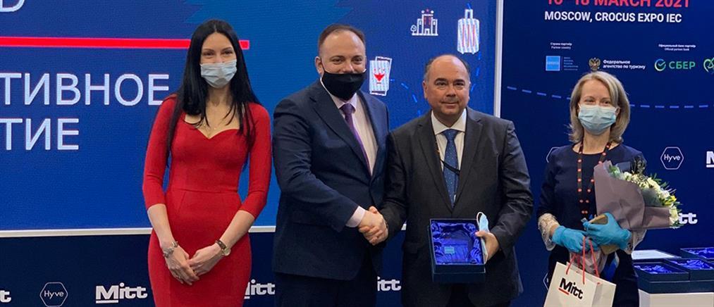 Βραβείο για τον ΕΟΤ στη Διεθνή Έκθεση Τουρισμού ΜΙΤΤ (εικόνες)