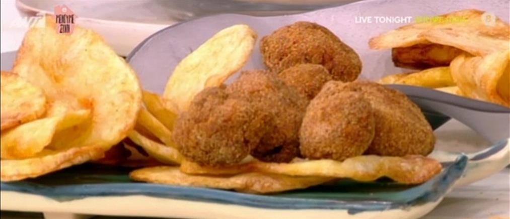 Νάγκετς κοτόπουλου και πατάτες τηγανιτές από τον Βασίλη Καλλίδη