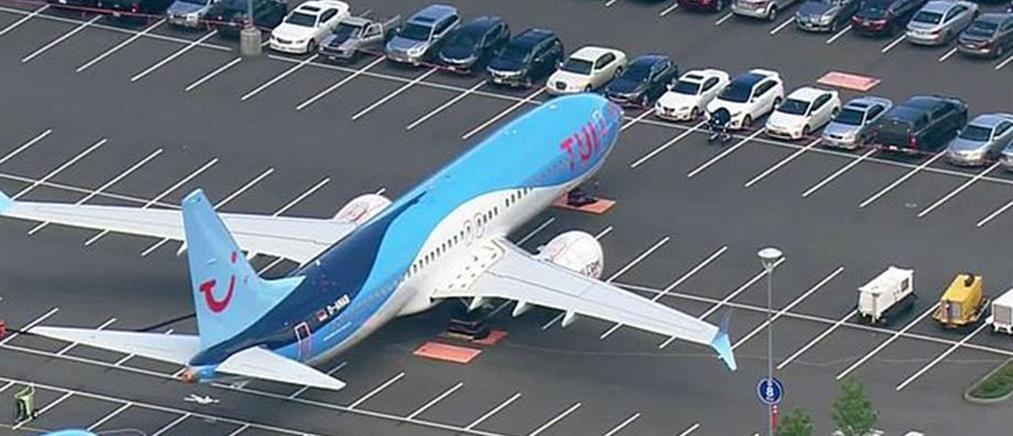 "Boeing 737 ""σταθμεύουν"" σε πάρκινγκ της πόλης (εικόνες)"