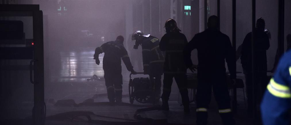 Σταδίου: Φωτιά σε υπόγειο