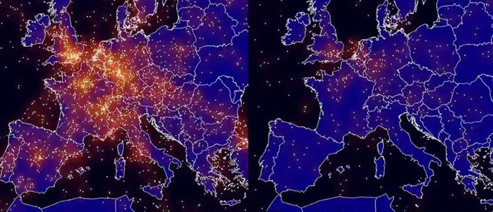 Κορονοϊός: Οι Ευρωπαίοι μένουν σπίτι και η ατμόσφαιρα καθαρίζει (εικόνες)