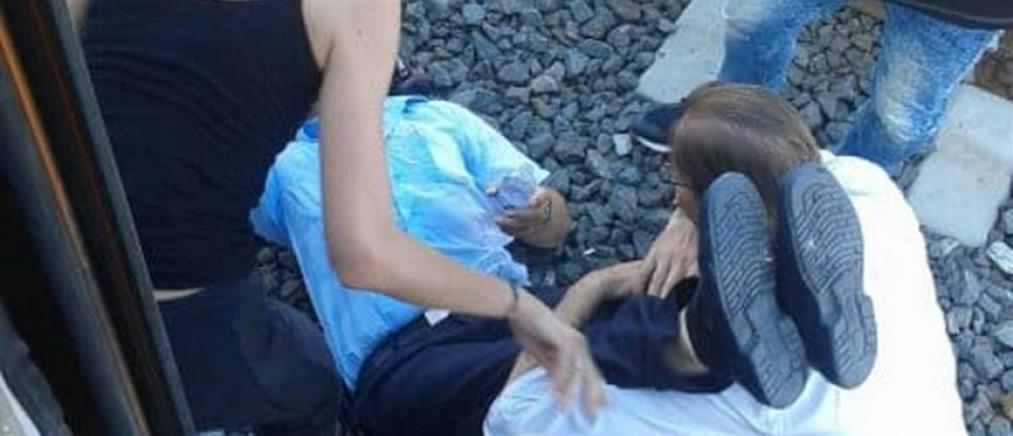 Υπάλληλος του ΟΣΕ λιποθύμησε από τη ζέστη ενώ επισκεύαζε βλάβη σε τρένο (εικόνες)