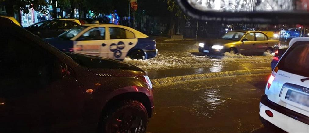Ποτάμια οι δρόμοι της Θεσσαλονίκης (βίντεο)