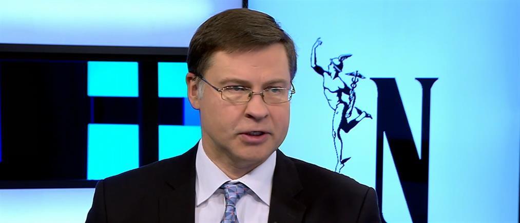 Ντομπρόβσκις: Δύο προαπαιτούμενα για την οριστική διάσωση των συντάξεων