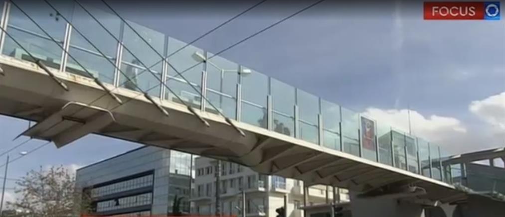 Έρευνα ΑΝΤ1: Σημάδια εγκατάλειψης στην πεζογέφυρα της Λεωφόρου Κηφισίας (βίντεο)