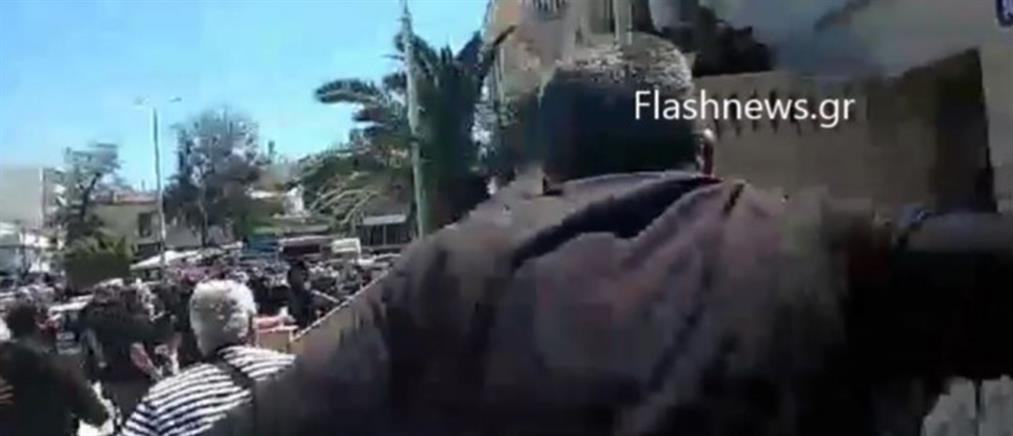 """Χανιά: """"όρμησαν"""" στον δράστη της εν ψυχρώ δολοφονίας (βίντεο)"""