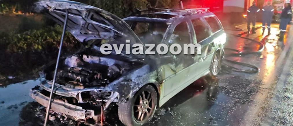 Εύβοια: Αυτοκίνητο τυλίχτηκε στις φλόγες εν κινήσει