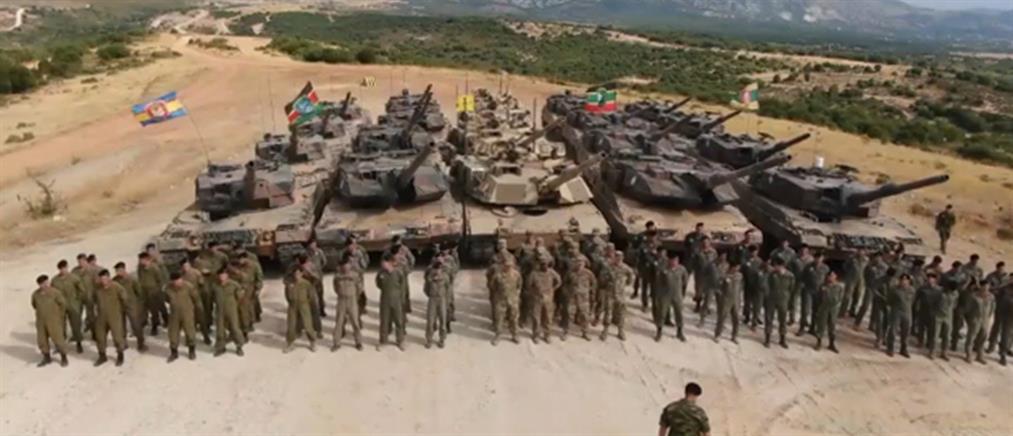 Εντυπωσιακές εικόνες με άρματα μάχης στην Ξάνθη (βίντεο)
