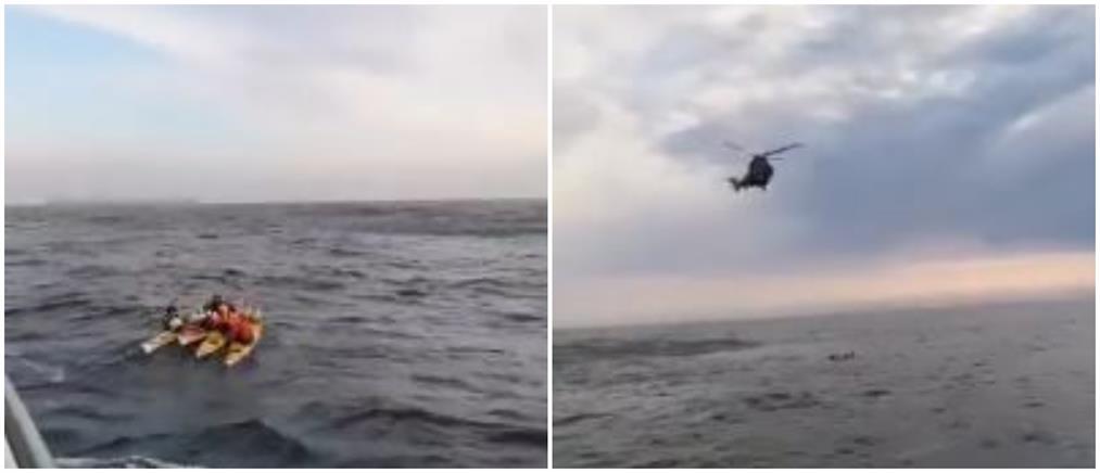 Βίντεο: Η στιγμή της διάσωσης τουριστών με καγιάκ ανάμεσα σε Κω και Νίσυρο