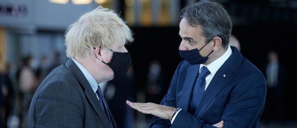"""Μητσοτάκης σε Τζόνσον: βάλτε την Ελλάδα στην """"πράσινη λίστα"""" της Βρετανίας"""