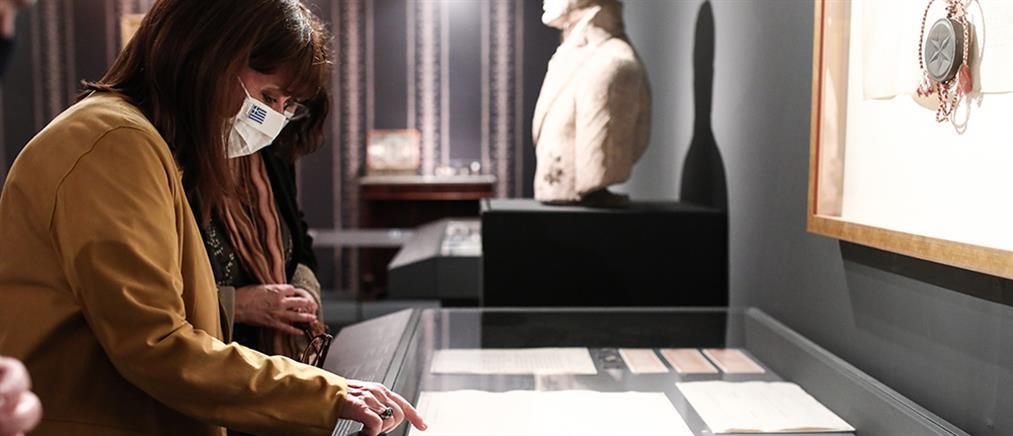 Επίσκεψη Σακελλαροπούλου στο Μουσείο Μπενάκη (εικόνες)