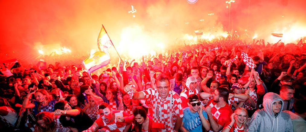 """Μουντιάλ 2018: Το Ζάγκρεμπ """"πήρε φωτιά"""" από τους πανηγυρισμούς (βίντεο)"""