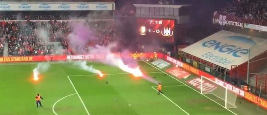 Σοβαρά επεισόδια στον αγώνα Σταντάρ Λιέγης – Άντερλεχτ (βίντεο)