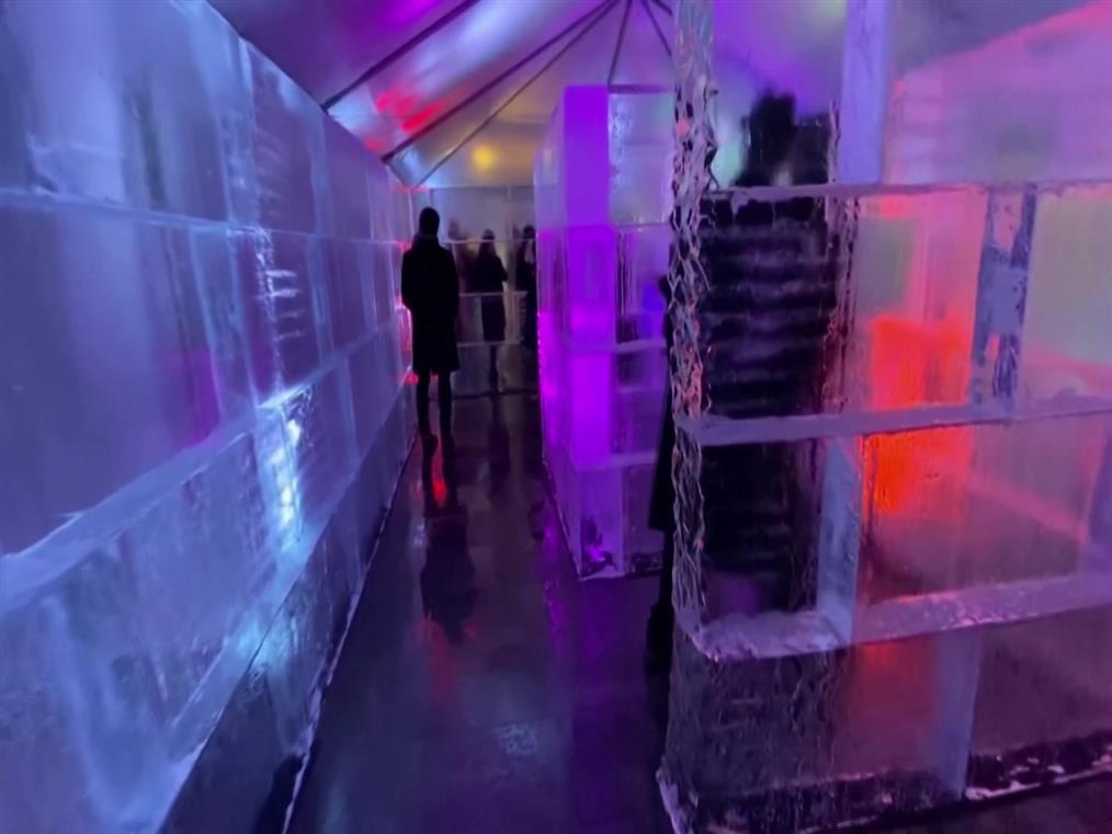 Λαβύρινθος από πάγο στην Ουάσιγνκτον