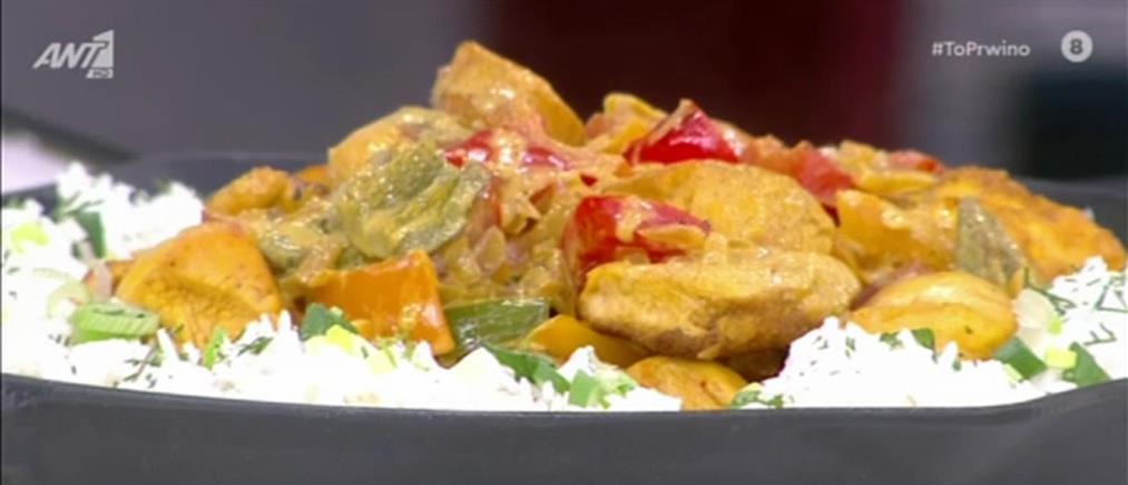 Συνταγή για τηγανιά κοτόπουλο με κρόκο Kοζάνης