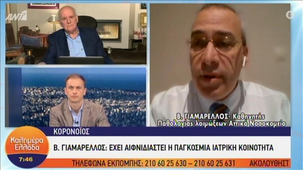 Ο καθηγητής λοιμοξιολογίας Β. Γιαμαρέλλος στον ΑΝΤ1
