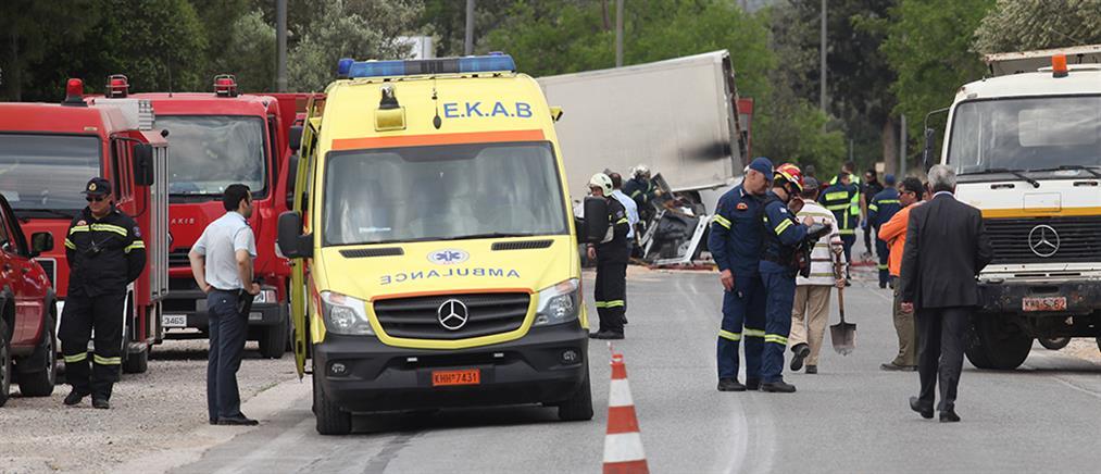 Τραγωδία στο τροχαίο με διαρροή καυσίμου (εικόνα)