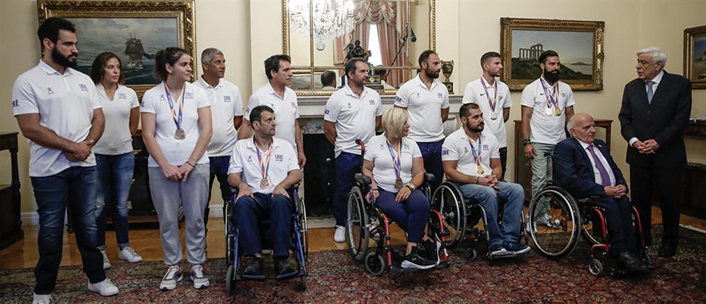 Στο Προεδρικό Μέγαρο οι Παγκόσμιοι Πρωταθλητές Στίβου ΑμεΑ (βίντεο)