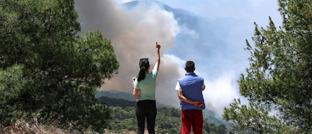 Φωτιά στα Γεράνεια Όρη: σε ύφεση με διάσπαρτες εστίες