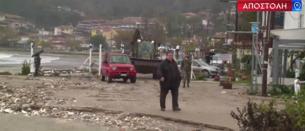 """Οδοιπορικό του ΑΝΤ1 στην Θάσο που """"λαβώθηκε"""" από την κακοκαιρία (βίντεο)"""