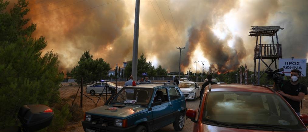Φωτιά στη Βαρυμπόμπη: Απομακρύνουν μετανάστες από την Μαλακάσα