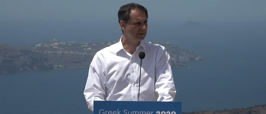 """Το πρόγραμμα """"Τουρισμός για όλους"""" παρουσίασε ο Χάρης Θεοχάρης (βίντεο)"""