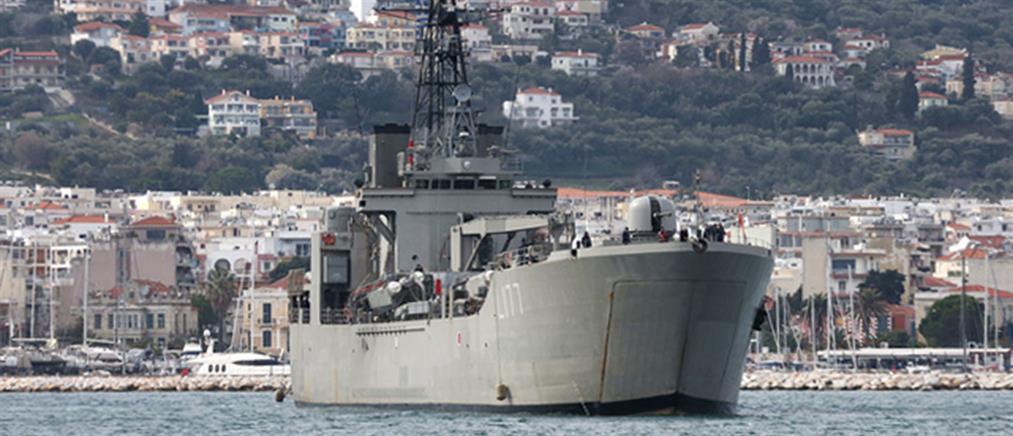 Λέσβος: Αρματαγωγό γίνεται κέντρο προσωρινής φιλοξενίας (εικόνες)