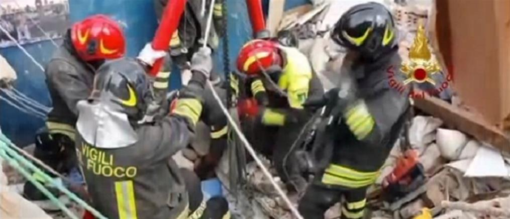 Ιταλία: Νεκρό παιδί σε κατάρρευση κτηρίου (εικόνες)