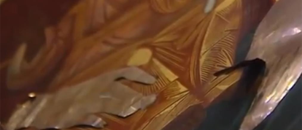 Προσπάθησαν να κλέψουν φύλλα χρυσού από εικόνα της Παναγίας
