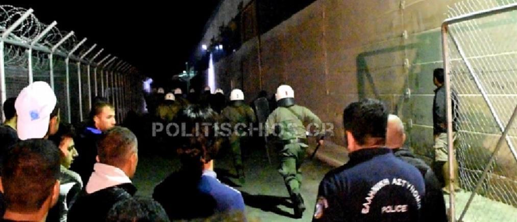 Νύχτα επεισοδίων σε Σούδα και ΒΙΑΛ (βίντεο)